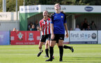 CHELTENHAM, ENGLAND - SEPTEMBER 26: Sophia Pharoah of goal celebration during the FA National League Southern Premier match between   Southampton Women and London Bees at The Snows Stadium on September 26, 2021 in  Cheltenham, England. (Photo by Isabelle Field/Southampton FC via Getty Images)