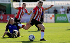 CHELTENHAM, ENGLAND - SEPTEMBER 26: Lucia Kendall of Southampton during the FA National League Southern Premier match between   Southampton Women and London Bees at The Snows Stadium on September 26, 2021 in  Cheltenham, England. (Photo by Isabelle Field/Southampton FC via Getty Images)
