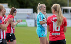 CHELTENHAM, ENGLAND - SEPTEMBER 26: Kayla Rendell of Southampton during the FA National League Southern Premier match between   Southampton Women and London Bees at The Snows Stadium on September 26, 2021 in  Cheltenham, England. (Photo by Isabelle Field/Southampton FC via Getty Images)