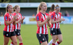 CHELTENHAM, ENGLAND - SEPTEMBER 26: Kelly Snook of Southampton during the FA National League Southern Premier match between   Southampton Women and London Bees at The Snows Stadium on September 26, 2021 in  Cheltenham, England. (Photo by Isabelle Field/Southampton FC via Getty Images)