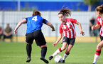 CHELTENHAM, ENGLAND - SEPTEMBER 26: Sophia Pharoah(R) of Southampton during the FA National League Southern Premier match between   Southampton Women and London Bees at The Snows Stadium on September 26, 2021 in  Cheltenham, England. (Photo by Isabelle Field/Southampton FC via Getty Images)