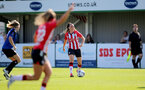 CHELTENHAM, ENGLAND - SEPTEMBER 26: Leeta Rutherford of Southampton during the FA National League Southern Premier match between   Southampton Women and London Bees at The Snows Stadium on September 26, 2021 in  Cheltenham, England. (Photo by Isabelle Field/Southampton FC via Getty Images)