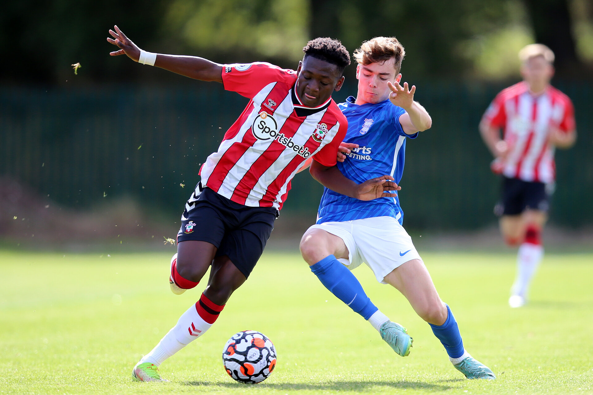 BIRMINGHAM, ENGLAND - SEPTEMBER 27:  during the Premier League 2 match between Birmingham City and Southampton B Team at Wast Hills Training Ground on September 27, 2021 in Birmingham , England. (Photo by Isabelle Field/Southampton FC via Getty Images)