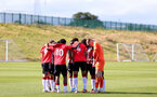BIRMINGHAM, ENGLAND - SEPTEMBER 27: Southampton players during the Premier League 2 match between Birmingham City and Southampton B Team at Wast Hills Training Ground on September 27, 2021 in Birmingham , England. (Photo by Isabelle Field/Southampton FC via Getty Images)