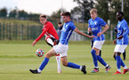 BIRMINGHAM, ENGLAND - SEPTEMBER 27: Dominic Ballard(L) of Southampton during the Premier League 2 match between Birmingham City and Southampton B Team at Wast Hills Training Ground on September 27, 2021 in Birmingham , England. (Photo by Isabelle Field/Southampton FC via Getty Images)