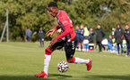 BIRMINGHAM, ENGLAND - SEPTEMBER 27: Remello Mitchell of Southampton during the Premier League 2 match between Birmingham City and Southampton B Team at Wast Hills Training Ground on September 27, 2021 in Birmingham , England. (Photo by Isabelle Field/Southampton FC via Getty Images)