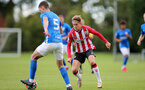BIRMINGHAM, ENGLAND - SEPTEMBER 27: Dominic Ballard(R) of Southampton during the Premier League 2 match between Birmingham City and Southampton B Team at Wast Hills Training Ground on September 27, 2021 in Birmingham , England. (Photo by Isabelle Field/Southampton FC via Getty Images)