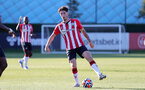 SOUTHAMPTON, ENGLAND - OCTOBER 01: Ethan Burnett of Southampton during the Premier League 2 match between Southampton B Team and Stoke City at Staplewood Training Ground on October 01, 2021 in Southampton, England. (Photo by Isabelle Field/Southampton FC via Getty Images)