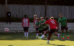 SOUTHAMPTON, ENGLAND - OCTOBER 01: Kazeem Olaigbe of Southampton take penalty  during the Premier League 2 match between Southampton B Team and Stoke City at Staplewood Training Ground on October 01, 2021 in Southampton, England. (Photo by Isabelle Field/Southampton FC via Getty Images)