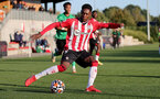 SOUTHAMPTON, ENGLAND - OCTOBER 01: Remello Mitchell of Southampton during the Premier League 2 match between Southampton B Team and Stoke City at Staplewood Training Ground on October 01, 2021 in Southampton, England. (Photo by Isabelle Field/Southampton FC via Getty Images)