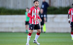 SOUTHAMPTON, ENGLAND - OCTOBER 01: Jayden Smith of Southampton during the Premier League 2 match between Southampton B Team and Stoke City at Staplewood Training Ground on October 01, 2021 in Southampton, England. (Photo by Isabelle Field/Southampton FC via Getty Images)