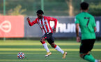 SOUTHAMPTON, ENGLAND - OCTOBER 01: Zuriel Otseh-Taiwo of Southampton during the Premier League 2 match between Southampton B Team and Stoke City at Staplewood Training Ground on October 01, 2021 in Southampton, England. (Photo by Isabelle Field/Southampton FC via Getty Images)