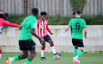 SOUTHAMPTON, ENGLAND - OCTOBER 01: Joshua Lett of Southampton during the Premier League 2 match between Southampton B Team and Stoke City at Staplewood Training Ground on October 01, 2021 in Southampton, England. (Photo by Isabelle Field/Southampton FC via Getty Images)