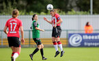 SOUTHAMPTON, ENGLAND - OCTOBER 03: Shannon Sievwright of Southampton during the FA National League Southern Premier match between Southampton Women and Keynsham Town at The Snows Stadium on October 03, 2021 in Southampton, England. (Photo by Isabelle Field/Southampton FC via Getty Images)
