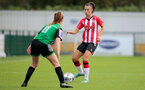 SOUTHAMPTON, ENGLAND - OCTOBER 03: Laura Rafferty(R) of Southampton during the FA National League Southern Premier match between Southampton Women and Keynsham Town at The Snows Stadium on October 03, 2021 in Southampton, England. (Photo by Isabelle Field/Southampton FC via Getty Images)
