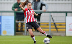 SOUTHAMPTON, ENGLAND - OCTOBER 03: Sophia Pharoah of Southampton during the FA National League Southern Premier match between Southampton Women and Keynsham Town at The Snows Stadium on October 03, 2021 in Southampton, England. (Photo by Isabelle Field/Southampton FC via Getty Images)