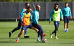 SOUTHAMPTON, ENGLAND - OCTOBER 05: Adam Armstrong(L) Nathan Redmond during a Southampton FC training session at the Staplewood Campus on October 05, 2021 in Southampton, England. (Photo by Matt Watson/Southampton FC via Getty Images)