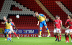 LONDON, ENGLAND - OCTOBER 06: Olly Lancashire of Southampton during the Papa John's Trophy match between Charlton Athletic and Southampton B Team at The Valley on October 06, 2021 in London, England. (Photo by Isabelle Field/Southampton FC via Getty Images)
