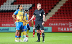 LONDON, ENGLAND - OCTOBER 06: Caleb Watts of Southampton during the Papa John's Trophy match between Charlton Athletic and Southampton B Team at The Valley on October 06, 2021 in London, England. (Photo by Isabelle Field/Southampton FC via Getty Images)