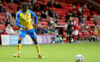 LONDON, ENGLAND - OCTOBER 06: Zuriel Otseh-Taiwo of Southampton during the Papa John's Trophy match between Charlton Athletic and Southampton B Team at The Valley on October 06, 2021 in London, England. (Photo by Isabelle Field/Southampton FC via Getty Images)