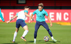 SOUTHAMPTON, ENGLAND - OCTOBER 11: Ethan Burnett(L) and Dominic Ballard(R) during Southampton B Team training at Staplewood Training Ground on October 11, 2021 in Southampton, England. (Photo by Isabelle Field/Southampton FC via Getty Images)