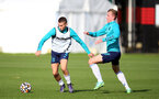 SOUTHAMPTON, ENGLAND - OCTOBER 11: Ryan Finnagan(R) during Southampton B Team training at Staplewood Training Ground on October 11, 2021 in Southampton, England. (Photo by Isabelle Field/Southampton FC via Getty Images)