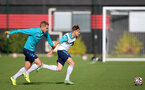 SOUTHAMPTON, ENGLAND - OCTOBER 11: Olly Lancashire(L) and Dominic Ballard(R) during Southampton B Team training at Staplewood Training Ground on October 11, 2021 in Southampton, England. (Photo by Isabelle Field/Southampton FC via Getty Images)
